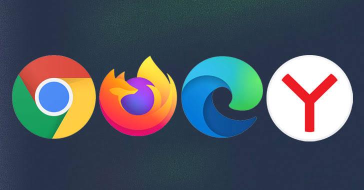 Google Chrome, Firefox, Microsoft Edge, and Yandex browsers